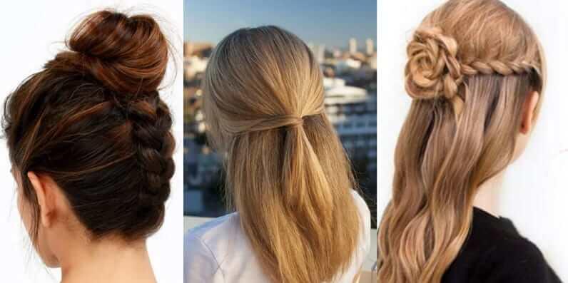 peinados faciles para pelo largo