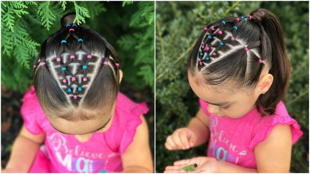 peinados de ligas niñas