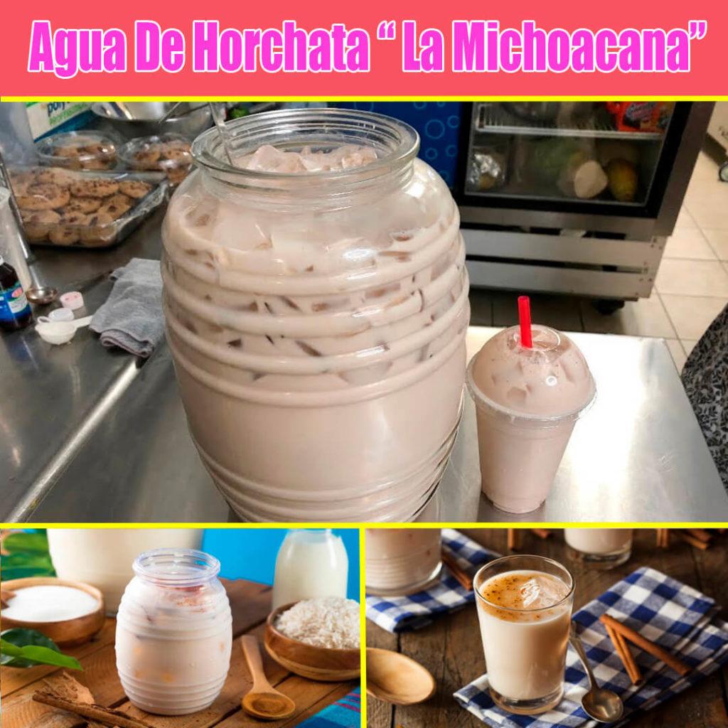 agua de horchata la michoacana